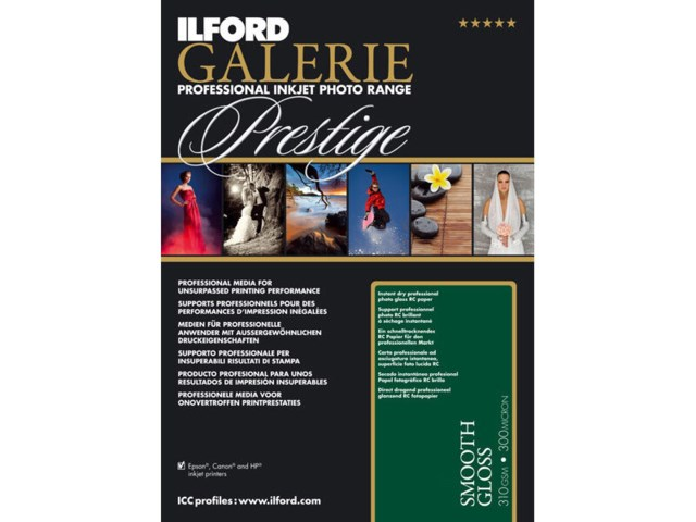 Ilford Fotopapper A4 Galerie Prestige Smooth Gloss 310g 100 blad