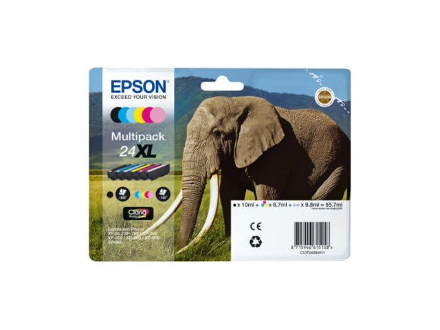 Epson Bläckpatron 24XL Claria Photo HD multipack