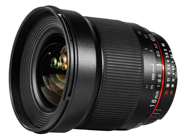 Samyang 16mm f/2,0 ED AS UMC CS til Canon
