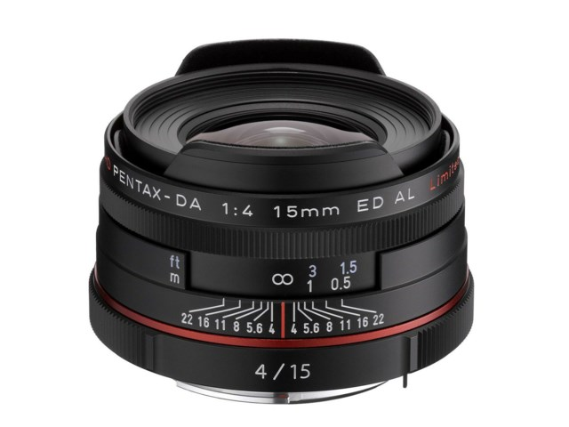 Pentax HD DA 15mm f/4 ED AL Limited svart