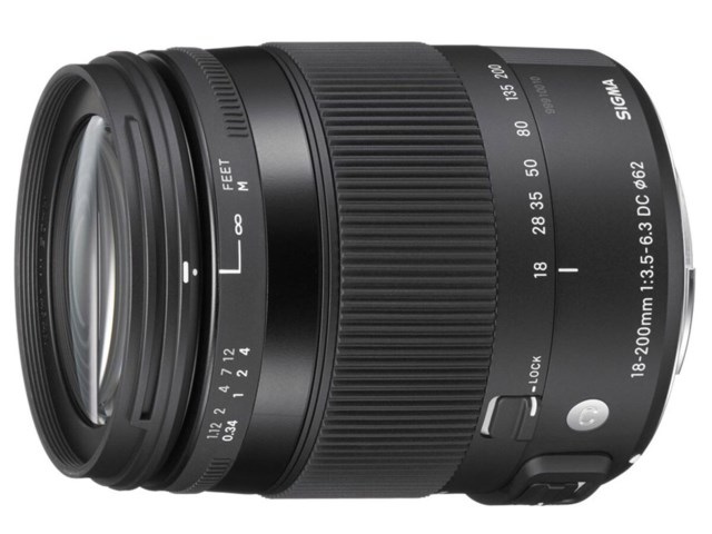 Sigma 18-200mm f/3,5-6,3 DC Macro OS HSM Contemporary til Canon