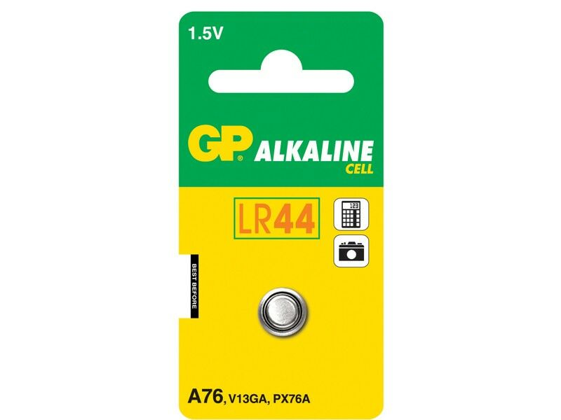 GP Batteri LR44/76A  1,5V 1-pack