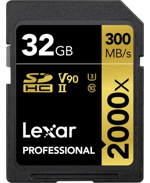 Lexar Minneskort Secure Digital 32GB SDHC 300MB/s 2000x