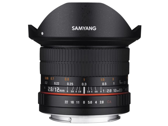 Samyang 12mm f/2,8 ED AS NCS Fisheye til Canon