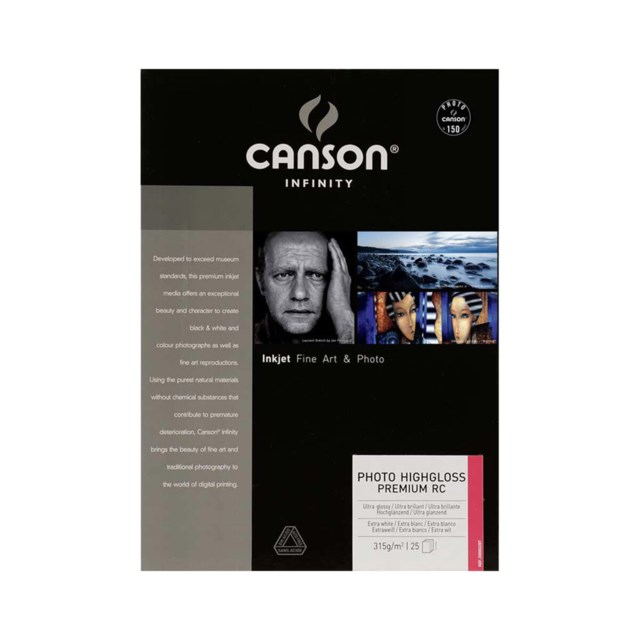 Canson Photo HighGloss Premium RC A3+ 315gr 25blad