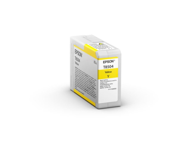 Epson Blækpatron Ultrachrome HD gul 80 ml T8504