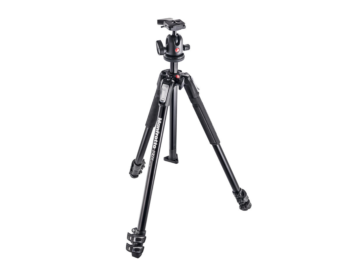Manfrotto Stativkit MK190X3-BH + 496rc2