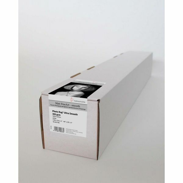 "Hahnemühle PhotoRag Ultra Smooth Rulle 44"" x 12m 305gr"
