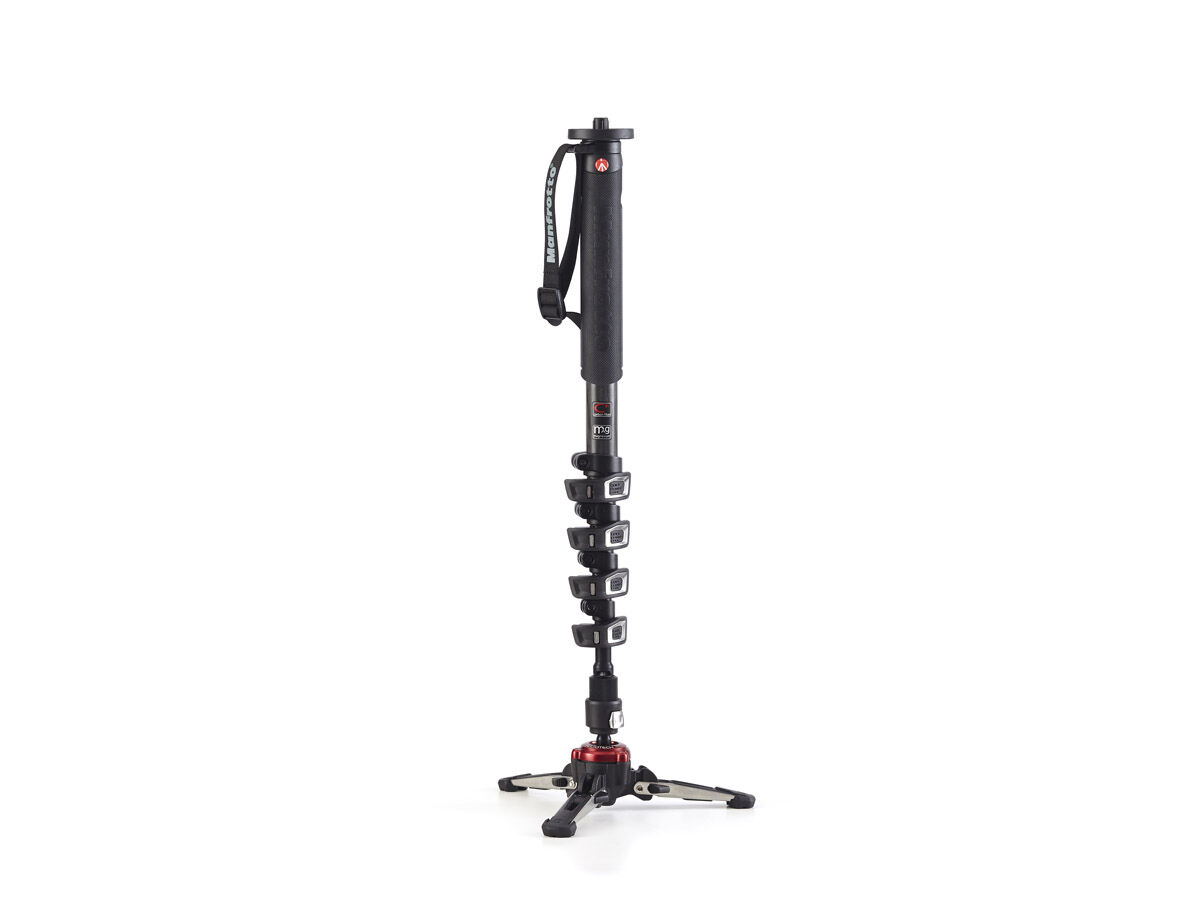 Manfrotto Enbensstativ Video MVMXPROC5 kolfiber 5-delat