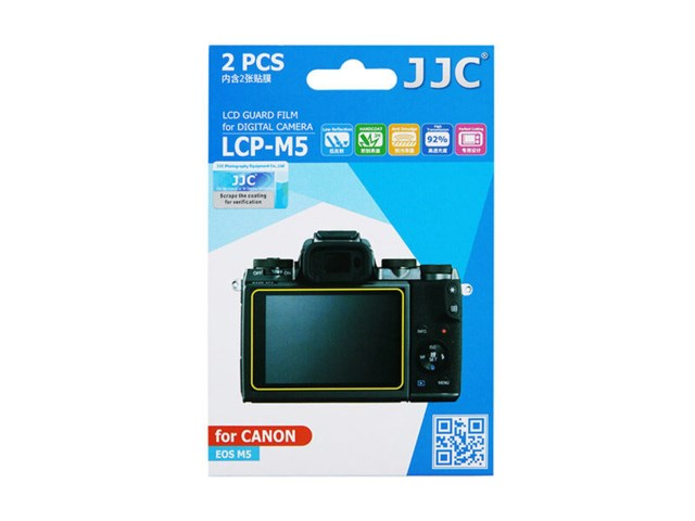 JJC LCD-skydd LCP-M5 till Canon EOS M5 2-pack