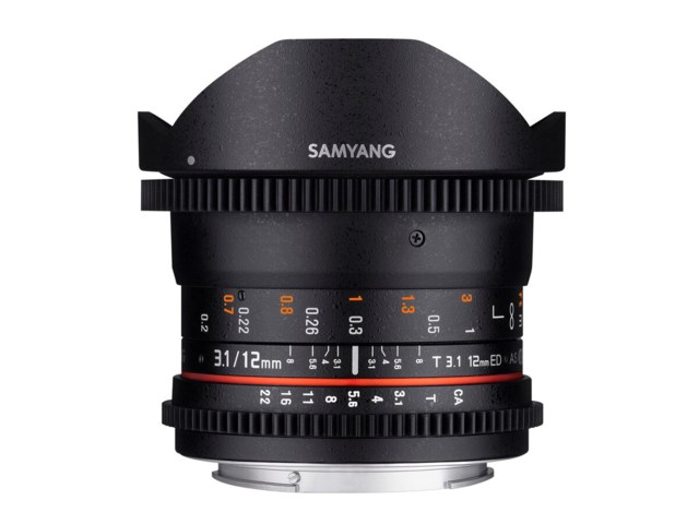 Samyang 12mm T3.1 VDSLR ED AS NCS Fisheye til Canon