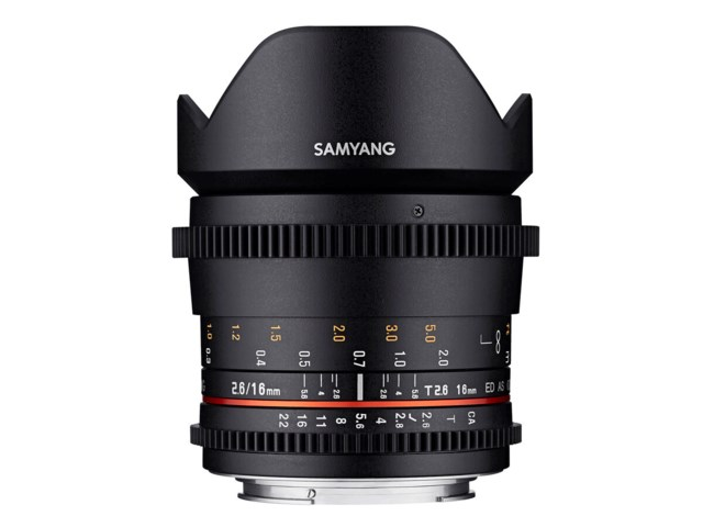 Samyang VDSLR 16mm T2.6 ED AS UMC til Canon EF