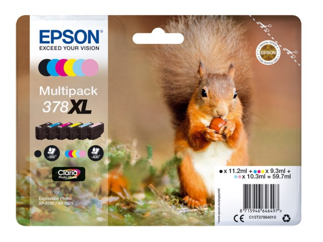Epson Blækpatron 378 XL Claria Photo HD multipack