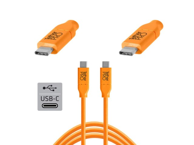 Tether Tools TetherPro kabel USB-C till USB-C 4,6 meter orange