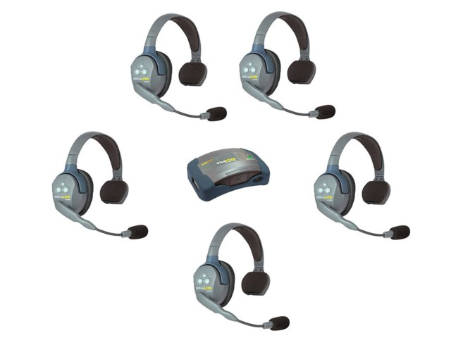 Eartec UltraLite Hub + 5 Single Ear Headset - Hub5S