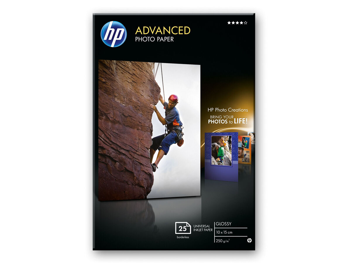 Hp Advanced Glossy 10x15cm 250gr 25blad