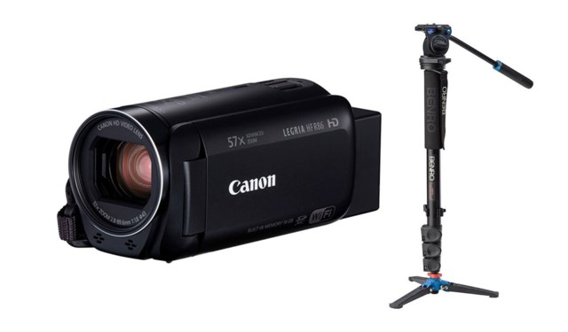 Canon Legria HF R86 + Benro A38FDS