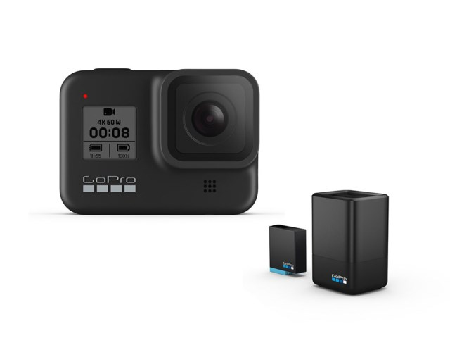 GoPro Hero 8 Black + Dual charger + Batteri