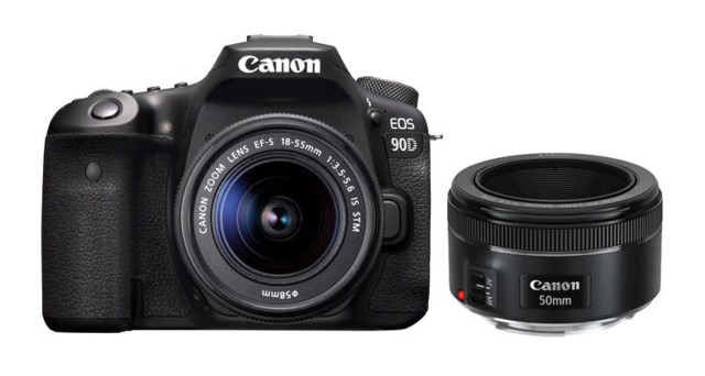 Canon EOS 90D EF-S 18-55/3,5-5,6 IS STM + EF 50mm f/1,8 STM