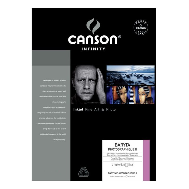 Canson Baryta Photographique II A3+ 310G 25blad