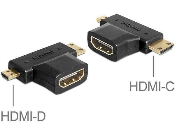 DELOCK HDMI hona - mini & micro HDMI adapter