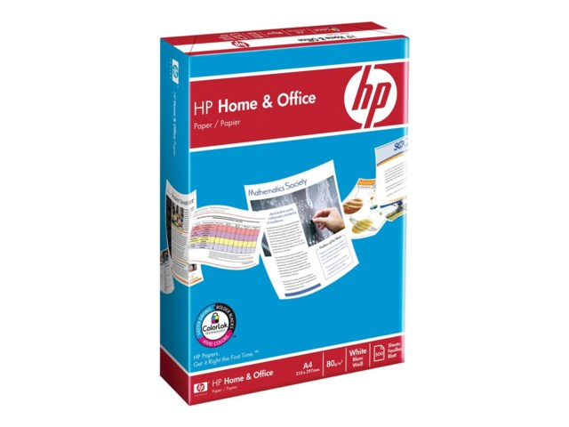 Hp Kopieringspapper ohålat A4 80gr 500blad HP home and office paper