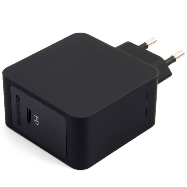 Champion USB-C strömadapter FastCharge PD 18W