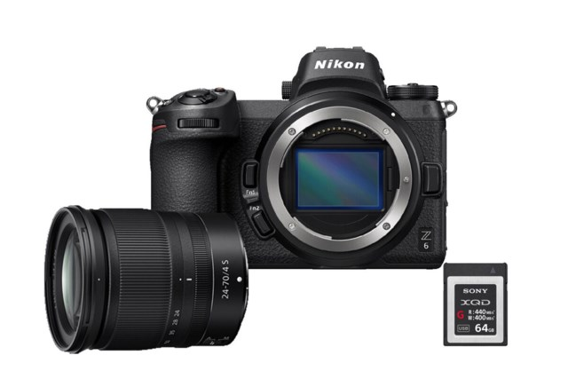 Nikon Z6 med NIKKOR Z 24-70mm f/4 S + XQD Secure Digital 64GB High Speed