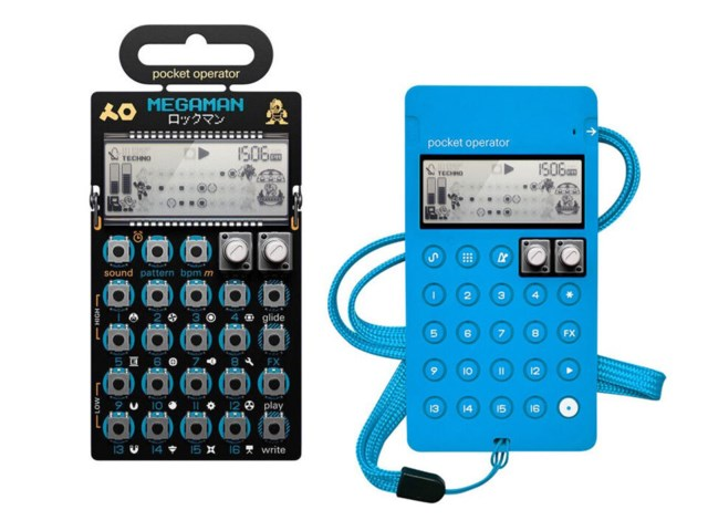 Teenage Engineering PO-128 Mega Man + CA-X Blue