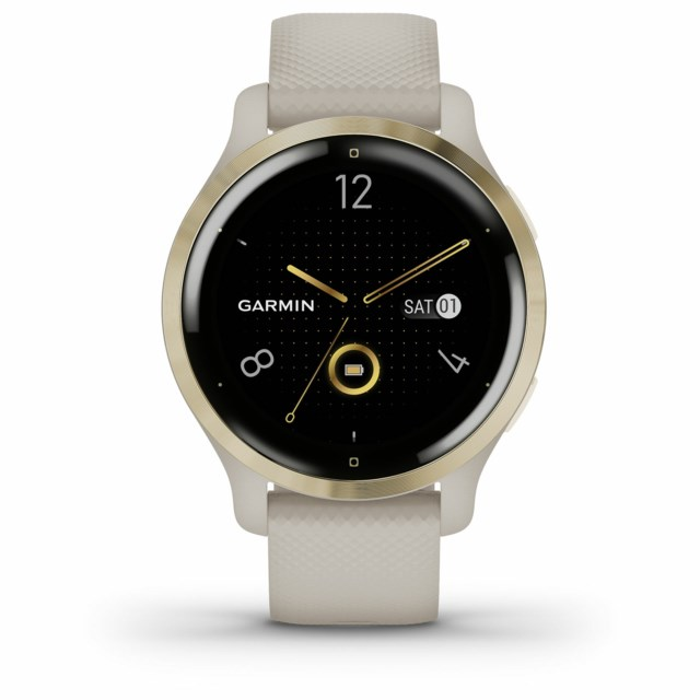 Garmin Venu 2S Light Gold Bezel with Light Sand Case