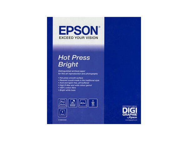 "Epson Hot Press Bright Rulle 24"" x 15m"
