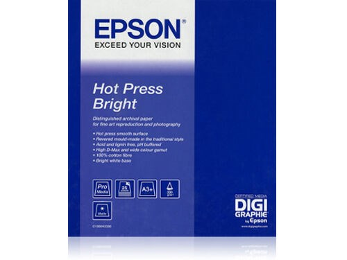 "Epson Hot Press Bright Rulle 17"" x 15m 330gr"