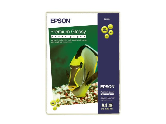 Epson Premium Glossy Photo Paper A4 255gr 50blad
