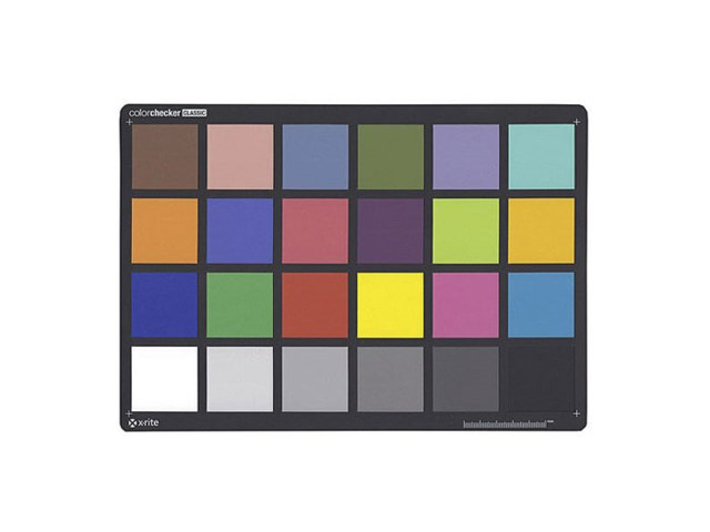 X-rite Colorchecker chart 24